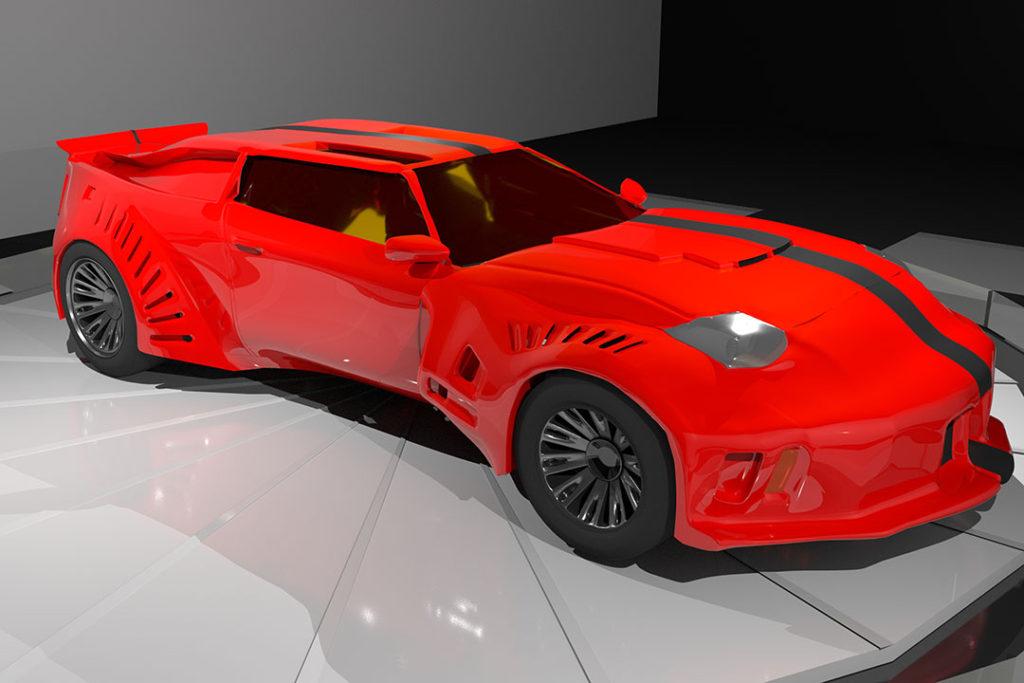 3D Maya concept car